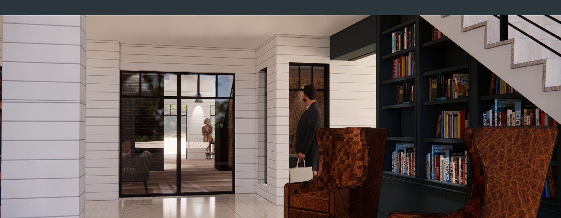 exterior rendering of the Reserve at Sono Cottages